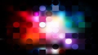 Abstract Dark Color Circles and Squares Background Illustrator