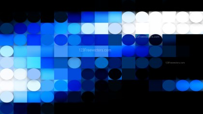 Dark Blue Circles and Squares Background