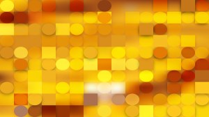 Gold Geometric Circles and Squares Background