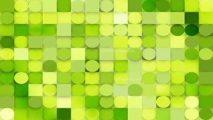 Abstract Green Circles and Squares Background