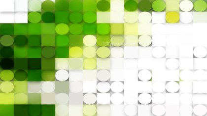 Green and White Geometric Circles and Squares Background Image