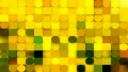 Abstract Green and Yellow Circles and Squares Background Vector Graphic