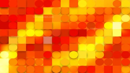 Abstract Orange Geometric Circles and Squares Background Vector Image