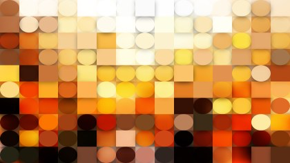Orange Geometric Circles and Squares Background