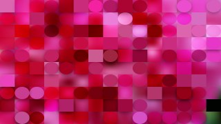 Pink Circles and Squares Background Graphic