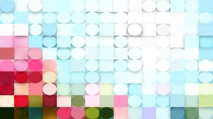 Pink and Blue Circles and Squares Background