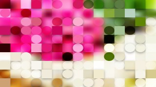 Abstract Pink and Green Geometric Circles and Squares Background