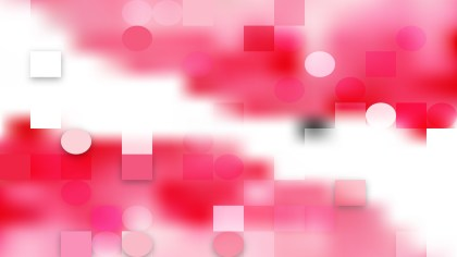 Pink and White Geometric Circles and Squares Background Vector Art