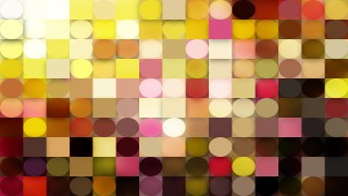 Abstract Pink and Yellow Circles and Squares Background Graphic