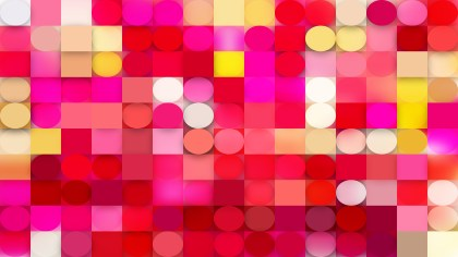 Abstract Pink and Yellow Geometric Circles and Squares Background Illustration