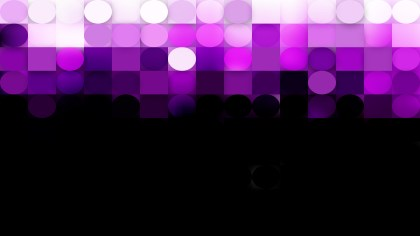 Abstract Purple and Black Circles and Squares Background