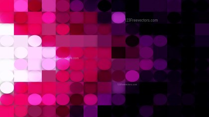 Abstract Purple and Black Geometric Circles and Squares Background