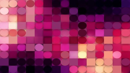 Purple and Black Geometric Circles and Squares Background Vector Illustration