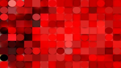 Abstract Red Geometric Circles and Squares Background Vector Art