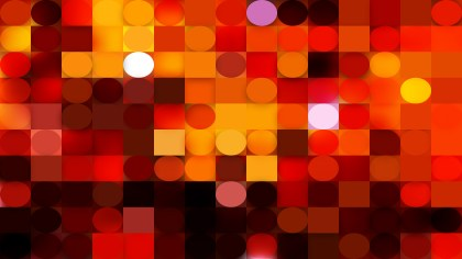 Red and Black Circles and Squares Background