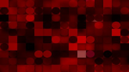 Red and Black Geometric Circles and Squares Background