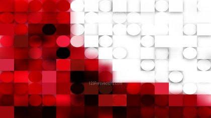 Abstract Red and White Geometric Circles and Squares Background