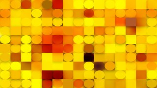 Abstract Red and Yellow Geometric Circles and Squares Background Vector Illustration