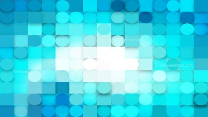 Turquoise Geometric Circles and Squares Background