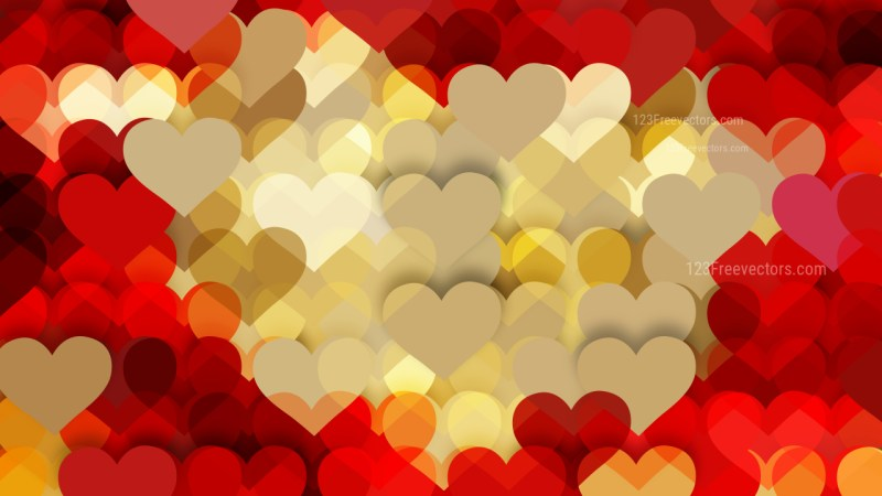 Beige and Red Heart Background