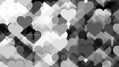 Black and White Heart Wallpaper Background