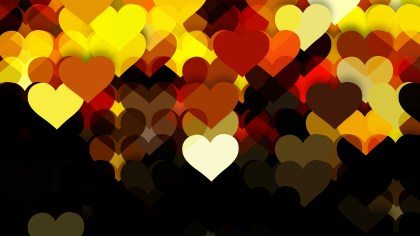 Black and Yellow Valentines Day Background