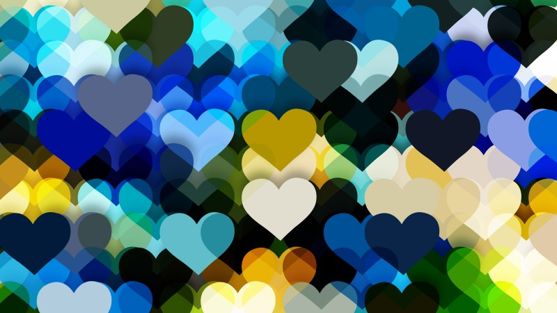 Blue and Yellow Valentines Background