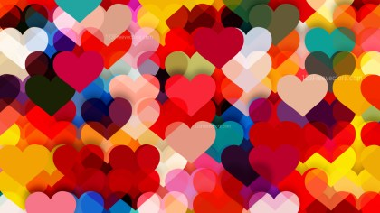 Colorful Valentine Background