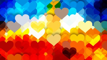Colorful Heart Background Vector Graphic