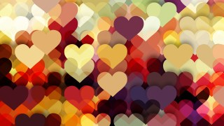 Dark Color Heart Background