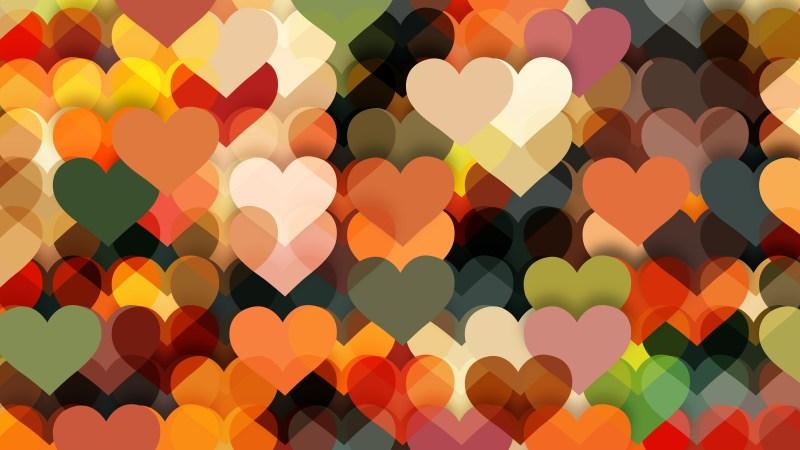 Dark Color Heart Wallpaper Background