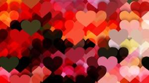 Dark Color Valentines Day Background