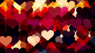 Dark Color Heart Background Illustrator