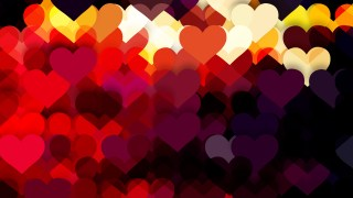 Dark Color Heart Wallpaper Background Vector Illustration