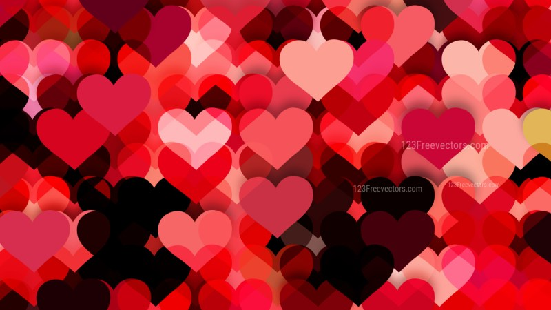 Dark Red Valentines Day Background Vector