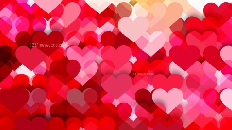 Hot Pink Love Background Illustration