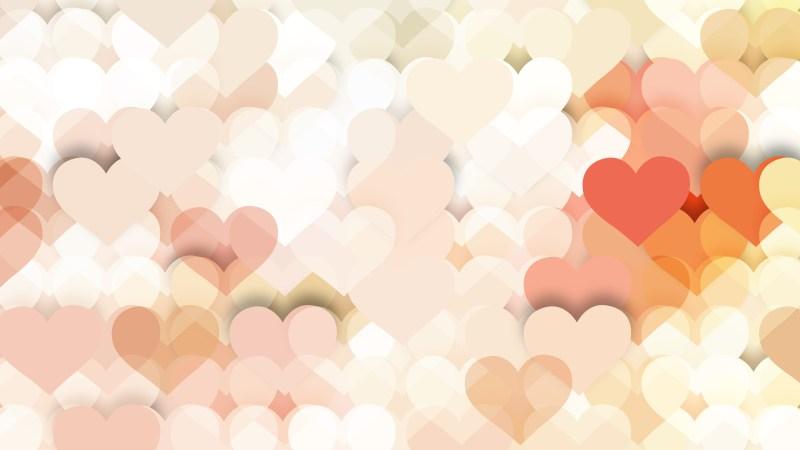 Light Color Heart Wallpaper Background