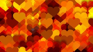 Orange Valentines Day Background Design