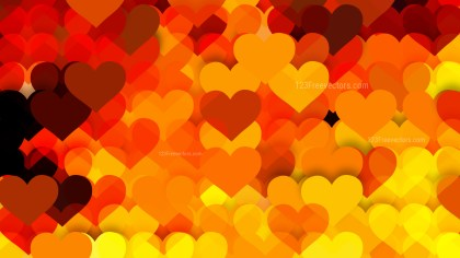 Orange and Black Heart Background