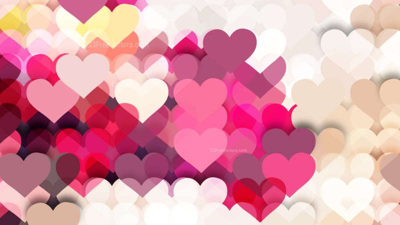 Pink Valentine Background Illustrator