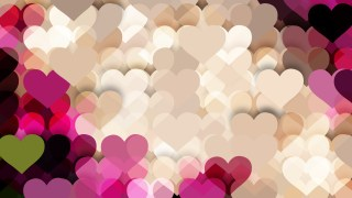 Pink and Beige Love Background Vector Illustration