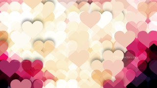 Pink and Beige Heart Wallpaper Background