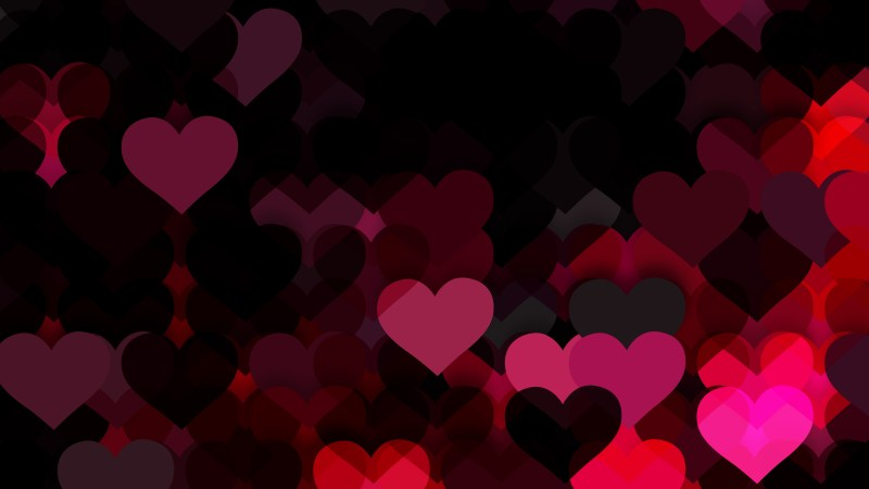 Pink and Black Valentines Day Background