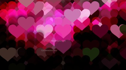 Pink and Black Valentines Background