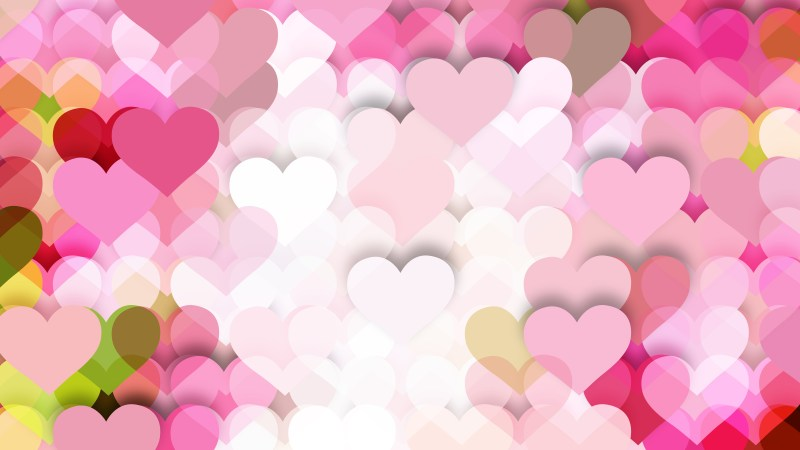 Pink and White Heart Background Vector Graphic