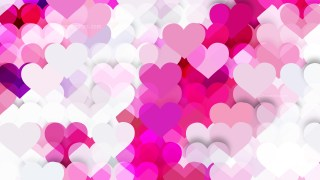 Pink and White Valentines Day Background Illustrator