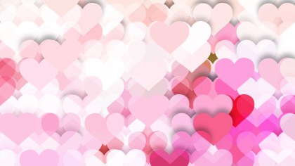Pink and White Valentines Background Vector Illustration