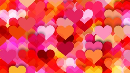 Pink and Yellow Heart Wallpaper Background