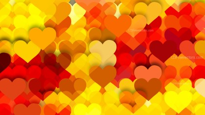 Red and Yellow Valentines Day Background Illustrator