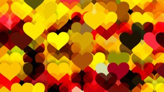 Red and Yellow Valentines Background Vector Illustration
